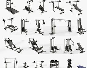 3D asset realtime Gym Equipaments