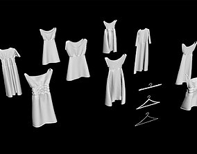 3D 10 hanged Dress Collection