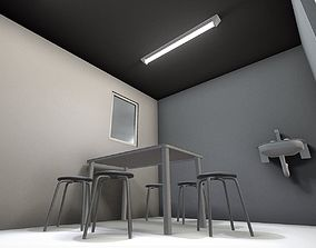 3D model realtime Low-Poly Break Room - Animated