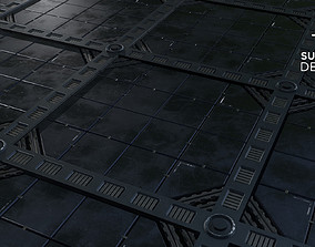 3D Sci-Fi panels 01 - Customizable PBR Material