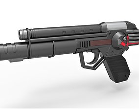 3D Skeletor trooper pistol from Masters of the Universe