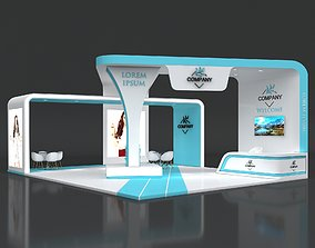 3D model Exhibition Booth Stand Stall 10x8m Height 450 3