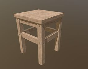3D asset low-poly Lowpoly chair
