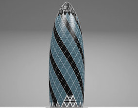 gherkin tower swiss 3D model