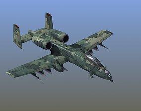 3D asset A10 Warthog