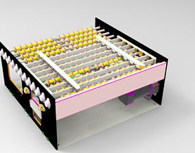 Assembly line for positioning mechanism 3D model