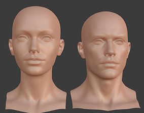 Character - Female Male Head Base Mesh Blendshape 3D model