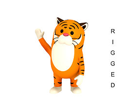 Rigged Tiger Character 3D