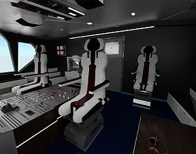 3D asset Airplane Airbus Cockpit Interior