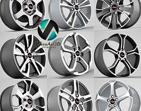 4go wheel rims collection 3D model
