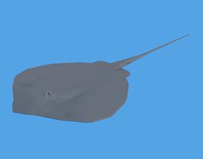 3D asset Low Poly Cartoon Stingray