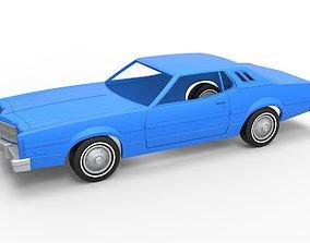Diecast shell and wheels Torino Elite 3D printable model 4