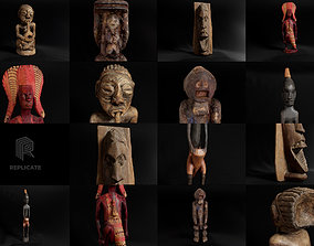 3D PBR African Statues Pack
