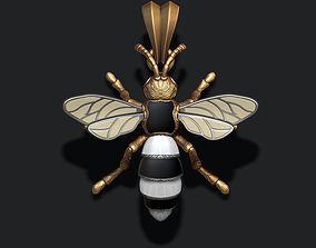 3D print model jewel Bee pendant with enamel
