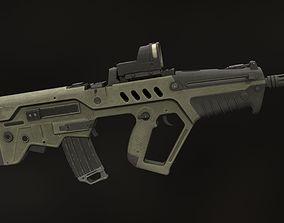 Tavor TAR-21 3D asset