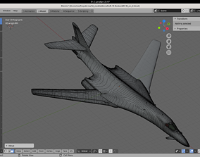 3D B-1B Rockwell