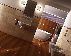 Scene Of Modern Bathroom 3D