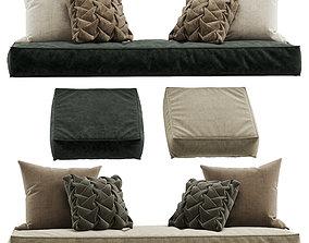 Seat pillow set 8 3D model