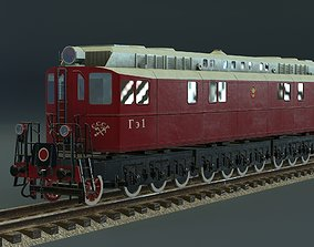 GE-1 diesel locomotive 3D model