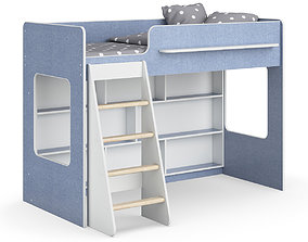 Legenda K26 with LP25 white childrens modular bed 3D