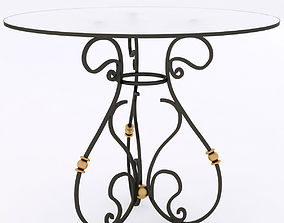3D wrought iron table