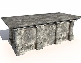 Old stone altar 3D asset