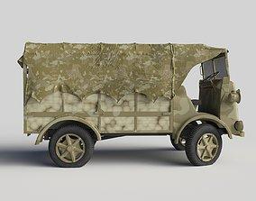 Fiat SPA CL-39 in camouflage design 3D model