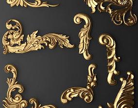 Decoration Elements Collection corbel 3D