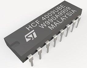 3D model chip DIL16