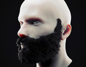 Beard Low Poly 11 3D asset