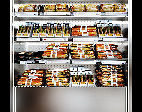 3D model Shelves sandwiches and packed lunches 2