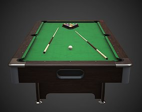 3D model game-ready Pool Table Jalano
