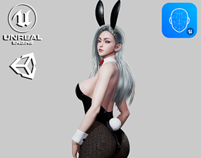 Bunny Girl - Game Ready 3D model rigged