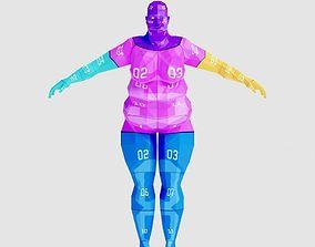 Woman Fat 3D model