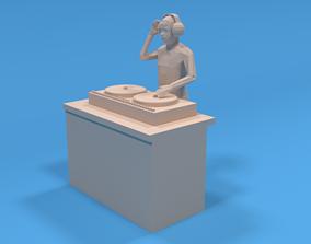 Low Poly DJ Kid 3D model