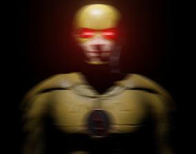 CW Reverse Flash 3D Model game-ready