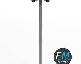 3D model Civil defense siren alarm