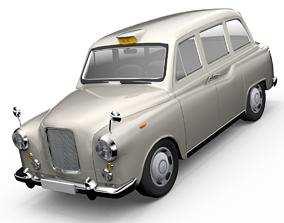 animated London Cab Austin Morris FX4 Taxi 3D model