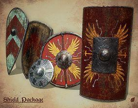 3D model PBR Historical Shields