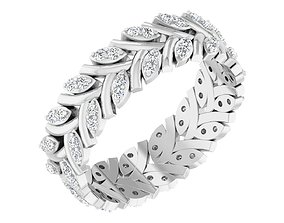 Band Ring For Ladies gold 3D print model