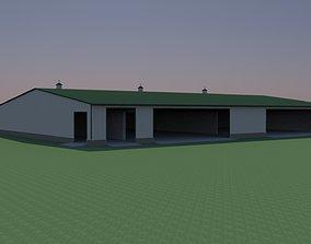 Hay storage shed 3D asset