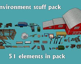 Environment props pack 3D asset