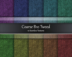 Coarse B10 Tweed Seamless Textures Set 3D