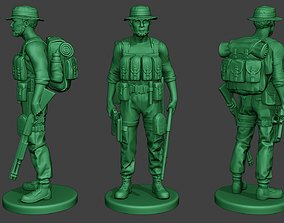 3D print model Modern Jungle Soldier Stand4 MJS1