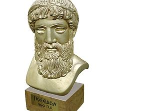 Bust Poseidon 3D asset