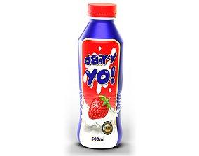 500ml Yoghurt Bottle 3D model