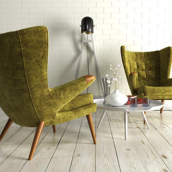 1211 velvet armchair