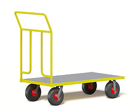 Trolley 3D Model market