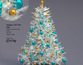 White christmas tree christmastree 3D model