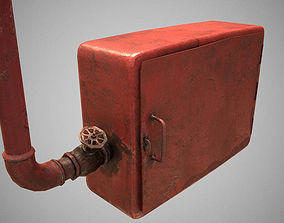 old fire hose box 3D model